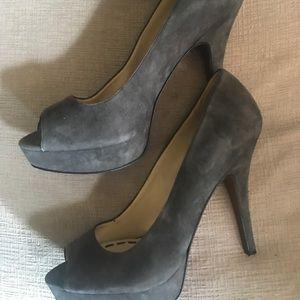 Enzo Angiolini grey suede heels size 9